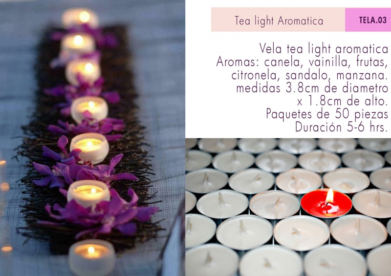 TEA LIGHTS AROMATICAS