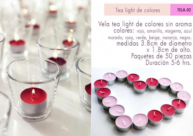 TEA LIGHTS DE COLORES